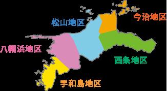 四国産業廃棄物処理業者分布図